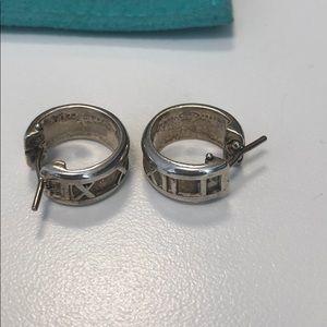 Tiffany & Co silver Atlas huggie earrings